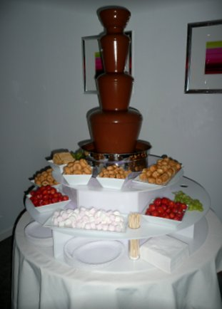 wedding venue ashton under lyne chocolate fountain